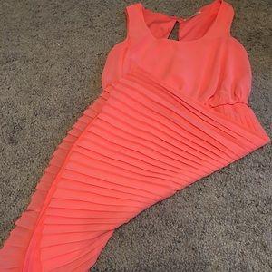 Coral dress 👗💕